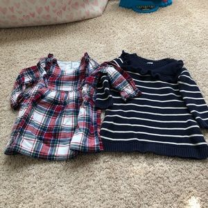 Two Gap dresses size 12 to 18 months